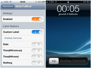 TweakCydia: SlideToMod, un nuovo tweak per modificare la scritta SlideToUnlock
