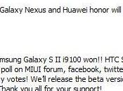 Samsung Galaxy Sensation, Huawey Honor, Nexus pronta MIUI basata