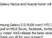 Samsung Galaxy Sensation, Huawey Honor, Nexus pronta MIUI basata