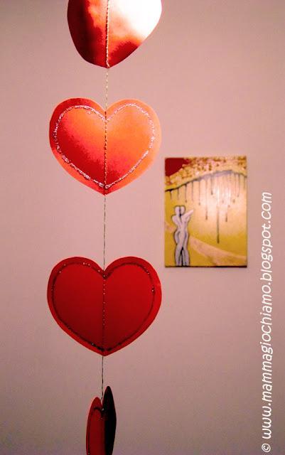 Decorazioni per san valentino cuori glitter da appendere - San valentino decorazioni ...