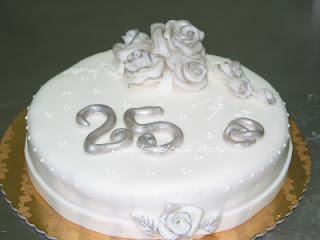 Torta Nozze D Argento 25 Anni Uhhhhhh Paperblog