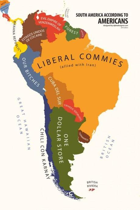 South America According to USA