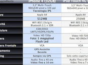Tabella comparativa iPhone iPod Touch