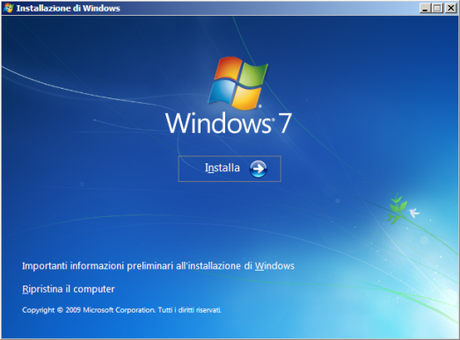 Centro Backup e Ripristino di Windows Seven