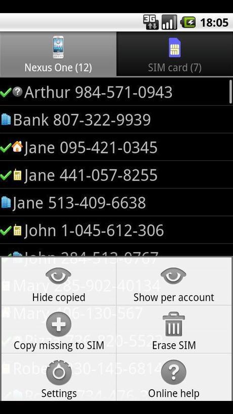 Trasferire contatti e rubrica da SIM a telefono su Android con Contact2SIM