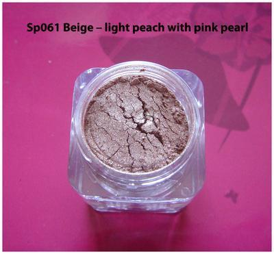 Sp061 Beige - light peach with pink pearl