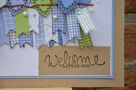Welcome Little one: card bimbo con Ippity Stamps by Elisa