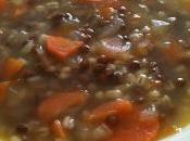 Zuppa orzo lenticchie