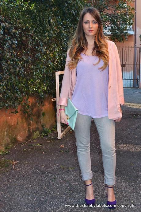 Pastel color blocking: Rosa, Lilla e Menta