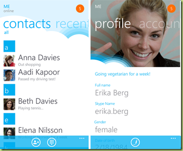 image thumb56 App Ufficiale Skype per Windows Phone disponibile nel Marketplace   Download Now!