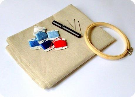 Le basi del ricamo 01 materiale paperblog - Scatola porta rocchetti ...