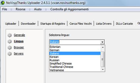 NoVirusThanks Uploader: carica e scansiona i file con più antivirus