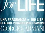 Acqua Life: riparte charity promossa Giorgio Armani