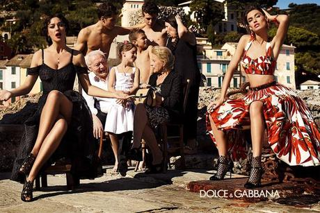 Dolce e Gabbana campagna pubblicitaria pe 2012