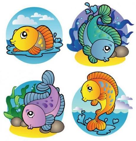 Pesciolini da colorare e ritagliare paperblog for Disegni pesci da ritagliare