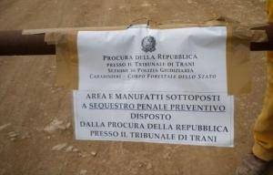 Trani: sequestrata discarica abusiva