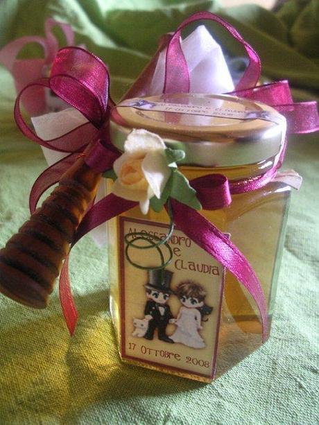 le api di alessandra bomboniera sposi miele e spargimiele
