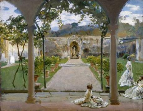 John Singer Sargent, At Torre Galli - Ladies in the garden come è oggi - Today view:  foto di Sailko, Wikipedia