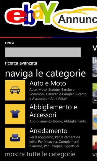 eBay Annunci disponibile per Windows Phone