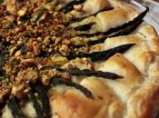 Torta salata ricotta (bis-cotta) asparagi selvatici.