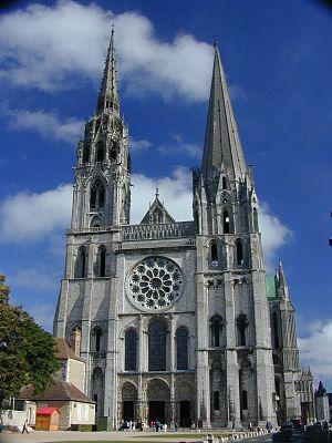 Chartres cathedral; fresneau worked at the cho