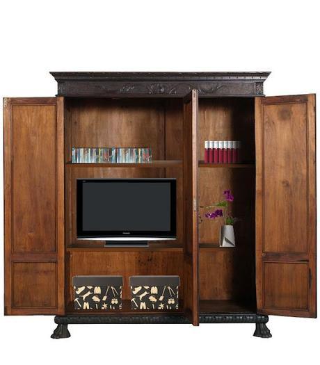 Antico armadio libreria porta tv atelier myartistic - Trasformare mobili vecchi ...