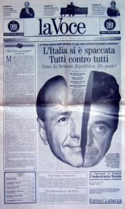 """22 marzo 1994: Primo Numero del Quotidiano """"la Voce"""""""