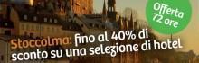 Hotels: Stoccolma fino a -40% + coupon del 10% sugli hotel