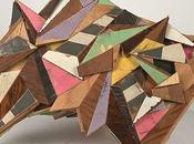 Patterns geometrici negli assemblaggi tridimensionali legno aaron moran