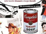 """""""L'ANELLO MANCANTE"""" viaggio intorno alla Art, passando Lichtenstein Andy Warhol, dalle Sorelle Giussani Sergio Bonelli."""