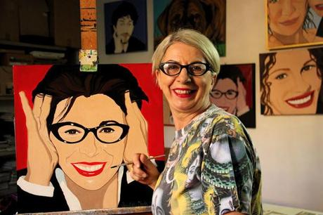 Arredamento casa pop art : Ritratti pop art donatella isola arredare in stile paper
