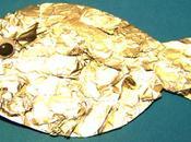 Lavoretti aprile: pesce collage carta alluminio