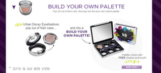 Preview - Urban Decay: Build your own palette (palette personalizzabile)